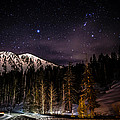 Mt. Rose Highway and Ski Resort at Night Print by Scott McGuire