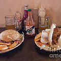 Muffaletta and Po-Boy Print by Kay Pickens