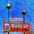 Mugs Up Root Beer Drive In Sign Poster by Andee Photography