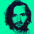 Mugshot Charles Manson p128 Poster by Wingsdomain Art and Photography