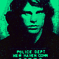 Mugshot Jim Morrison p128 Poster by Wingsdomain Art and Photography