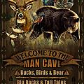 Multi Specie Man Cave Poster by JQ Licensing