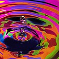 Multicolor Water Droplets 2 Print by Imani  Morales