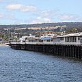 Municipal Wharf At The Santa Cruz Beach Boardwalk California 5D23815 Print by Wingsdomain Art and Photography
