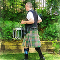 Music - Drummer in Pipe Band Poster by Susan Savad
