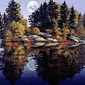Muskoka  Moon Print by Michael Swanson