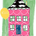 Mustache House Poster by Linda Woods