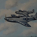 Mustang Duo Print by Murray McLeod
