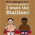 My rocky lego dialogue poster Print by Chungkong Art