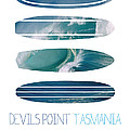 My Surfspots poster-5-Devils-Point-Tasmania Poster by Chungkong Art
