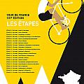 MY TOUR DE FRANCE MINIMAL POSTER 2014-ETAPES Poster by Chungkong Art