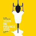 MY TOUR DE FRANCE MINIMAL POSTER Poster by Chungkong Art