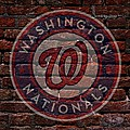 Nationals Baseball Graffiti on Brick  Poster by Movie Poster Prints