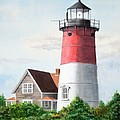 Nauset Beach Memories Watercolor Painting Poster by Michelle Wiarda