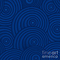 Navy Blue Abstract Poster by Frank Tschakert