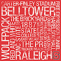 NC State College Colors Subway Art Print by Replay Photos