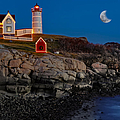 Neddick Lighthouse Print by Susan Candelario
