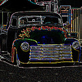 Neon 1948 Chevy Pickup Poster by Steve McKinzie