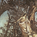 Never so weary never so woeful illustration to A Midsummer Night s Dream Print by Arthur Rackham