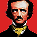 Nevermore - Edgar Allan Poe - Electric Poster by Wingsdomain Art and Photography