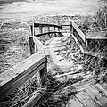 New Buffalo Michigan Boardwalk and Beach Print by Paul Velgos