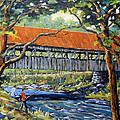 New England Covered Bridge by Prankearts Poster by Richard T Pranke