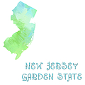 New Jersey - Garden State - Map - State Phrase - Geology Poster by Andee Design