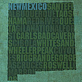 New Mexico Word Art State Map on Canvas Poster by Design Turnpike