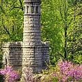 New York at Gettysburg - Monument to 12th / 44th NY Infantry Regiments-2A Little Round Top Spring Print by Michael Mazaika