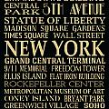 New York Attractions Poster by Jaime Friedman