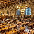 New York Public Library Main Reading Room IX Print by Clarence Holmes
