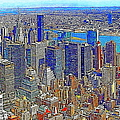 New York Skyline 20130430v3 Print by Wingsdomain Art and Photography