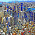 New York Skyline 20130430v4-square Poster by Wingsdomain Art and Photography