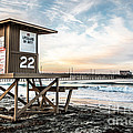 Newport Beach Pier and Lifeguard Tower 22 Photo Print by Paul Velgos