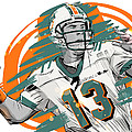 NFL Legends Dan Marino Miami Dolphins Print by Akyanyme
