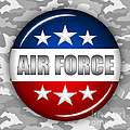 Nice Air Force Shield 2 Print by Pamela Johnson