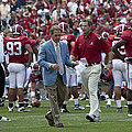 Nick Saban and the Tide Print by Mountain Dreams