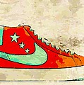 NIke Blazer orange Poster by Alfie Borg