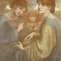 No. 1011 Study For The Bower Meadow Print by Dante Gabriel Charles Rossetti
