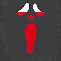 No121 My SCREAM minimal movie poster Poster by Chungkong Art