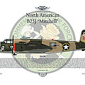 North American B-25J Mitchell Print by Arthur Eggers