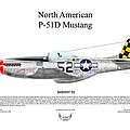North American P-51D SHIMMY IV Poster by Arthur Eggers