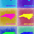 North Carolina Pop Art Map 2 Poster by Irina  March
