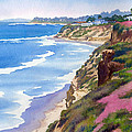 North County Coastline Revisited Print by Mary Helmreich