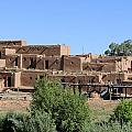 North House Of The Pueblo Print by Christiane Schulze Art And Photography