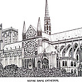 Notre Dame Cathedral - Paris Print by Frederic Kohli