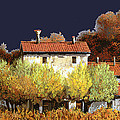 notte in campagna Print by Guido Borelli