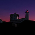 nubble at night Poster by Andrea Galiffi