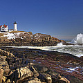 Nubble Light  Print by Joann Vitali