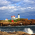 Nubble Lighthouse Poster by Karen Winterholer